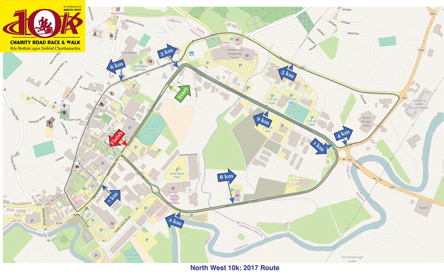 2017 Letterkenny 10k Route